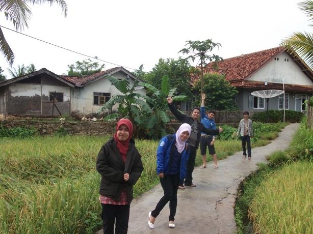 Suasana desa Sawarna
