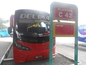 Bus Johor Bahru - Melaka Sentral